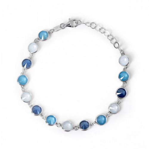 Silver Bracelet Carmen Powder Blue