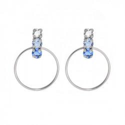 Silver Hoop earrings Elise