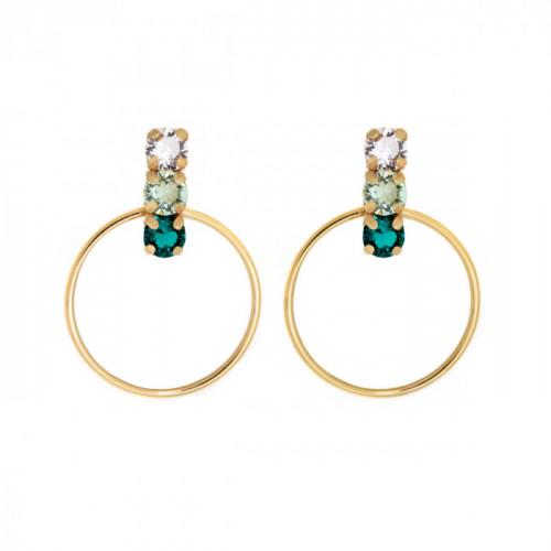 Gold Hoop earrings Elise