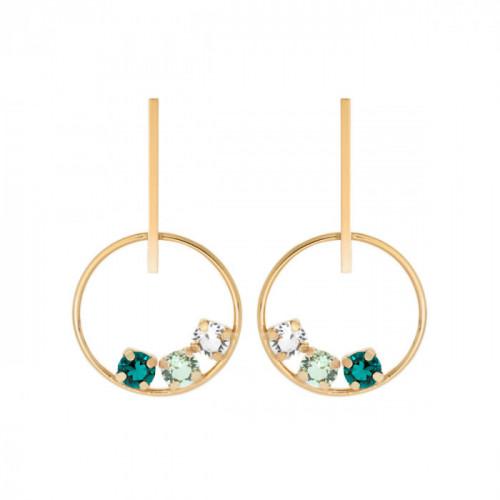 Gold Earrings bar Elise
