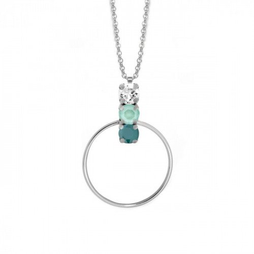 Collar de aro Elise plata Royal Green