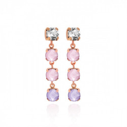 Pink Gold Earrings crystals