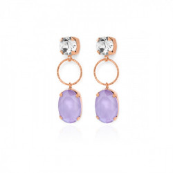 Rose Gold Earrings Lilac