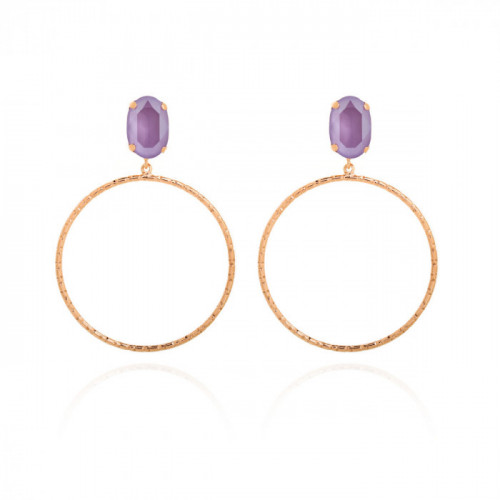Pink Gold Earrings Lilac of ring