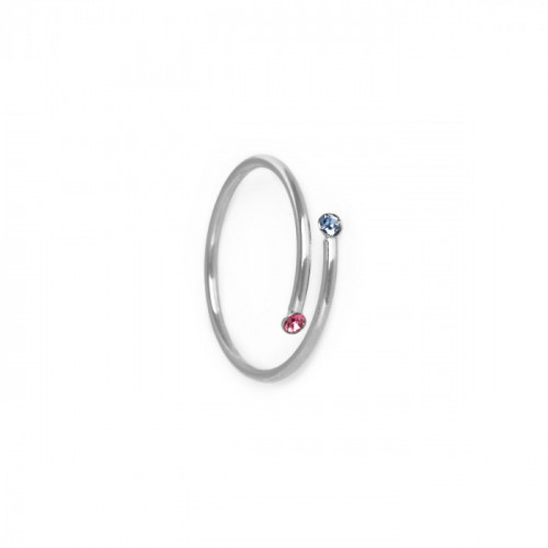 Silver Iris Ring Multicolor