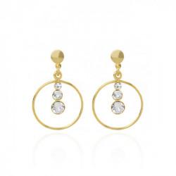 Gold Celeste Earrings Crystal