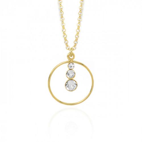Collar Celeste Crystal - Oro