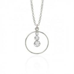 Silver Celeste Necklace Crystal