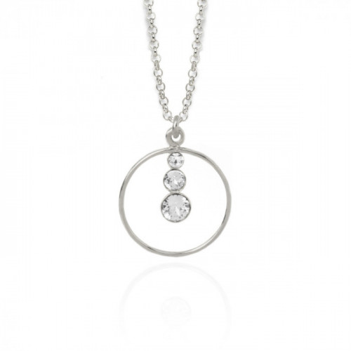 Silver Celeste Necklace Crystal