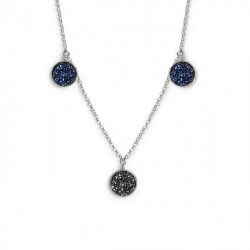 Chiss Necklace Crystal - Silver