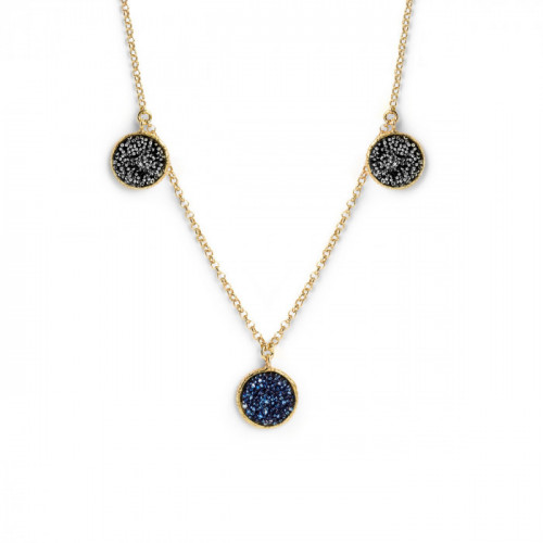 Chiss Necklace Denim Blue - Gold