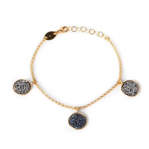 Chiss Bracelet Denim Blue - Gold