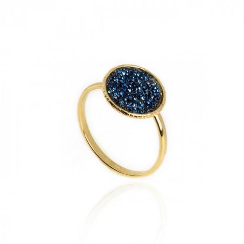 Gold Chiss Ring Denim Blue