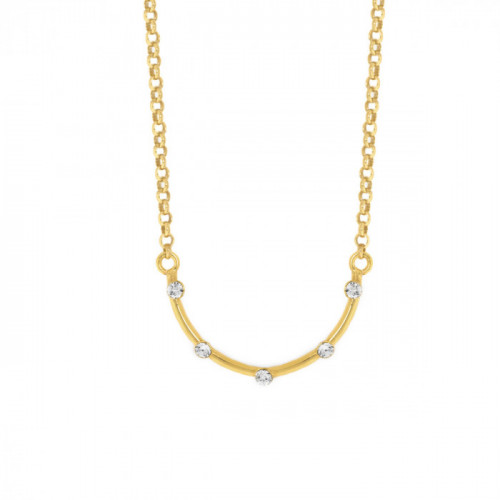 Gold Iris Necklace crystal
