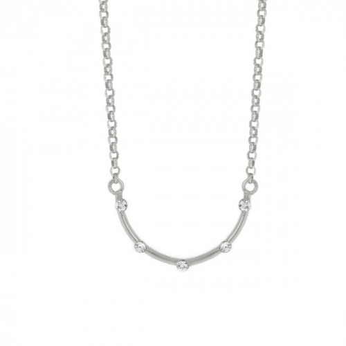 Silver Iris Necklace Crystal
