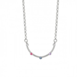 Silver Iris Necklace Multicolor