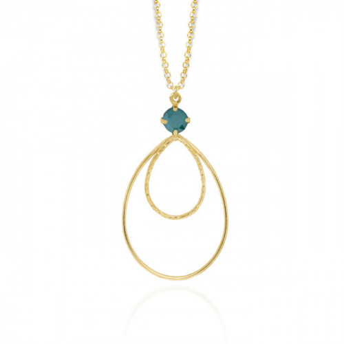 Gold Arty Necklace Royal Green