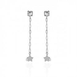 Silver Celeste Earrings Crystal