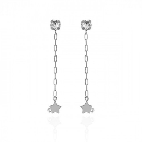 Silver Celeste Earrings Crystal