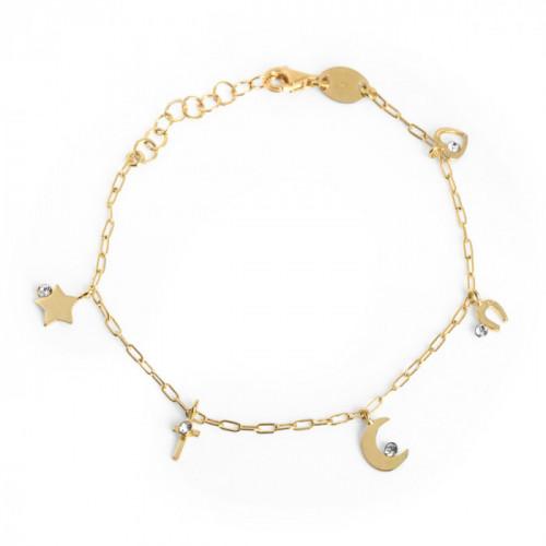 Gold Celeste Bracelet Crystal
