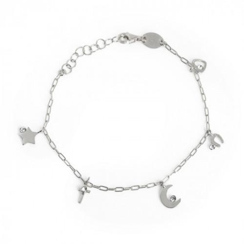 Silver Celeste Bracelet Crystal