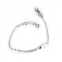 Jazz Bracelet Crystal- Silver