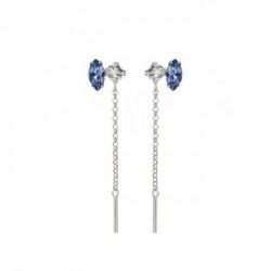 Keila Earrings Denim Blue - Silver