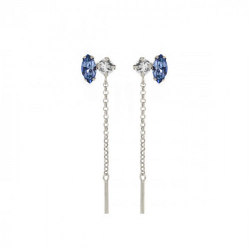 Keila Earrings Denim Blue - Silver