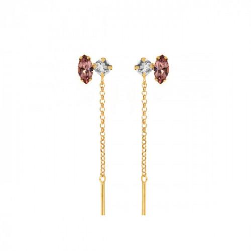 Keila Earrings Antique Pink - Gold