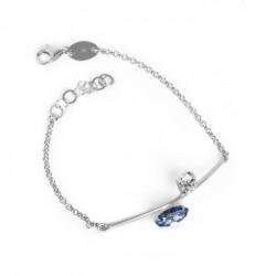 Silver Keila Bracelet Denim Blue