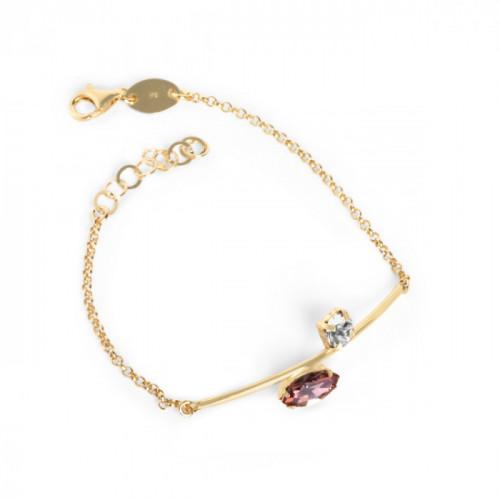 Gold Keila Bracelet Antique Pink