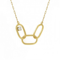 Gold Danaec Necklace Crystal