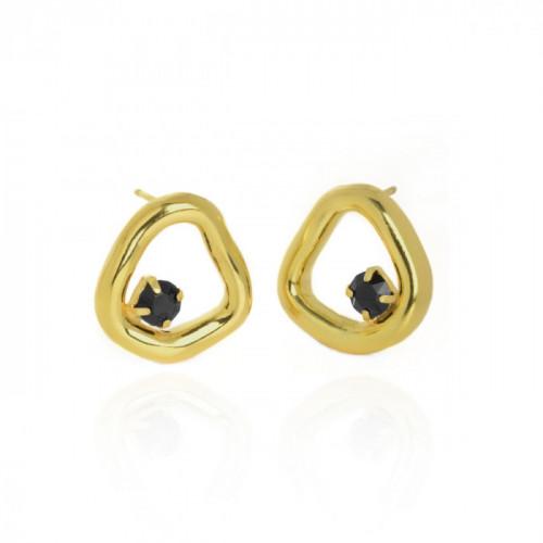 Gold Sunset Earrings Jet