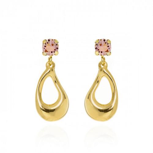 Gold Sunset Earrings Rose Vintage