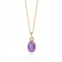 Rose Gold Miah Necklace Lilac