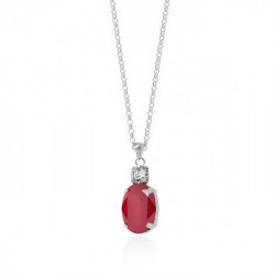 Silver Miah Necklace Royal Red