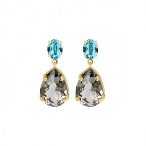 Gold Louis Earrings Diamond