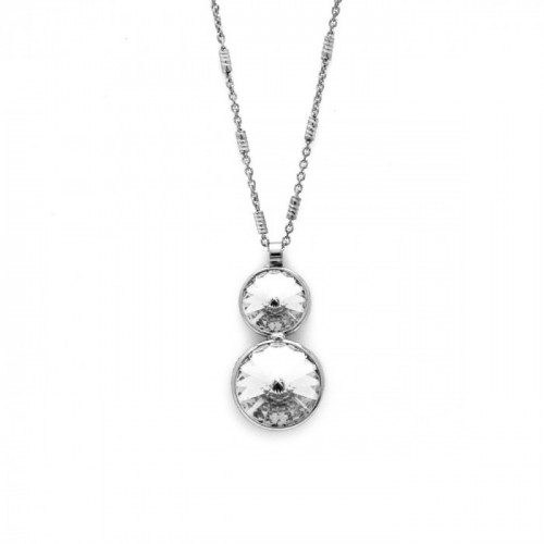 Silver Necklace Basic double