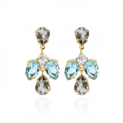 Gold Louis Earrings Diamond