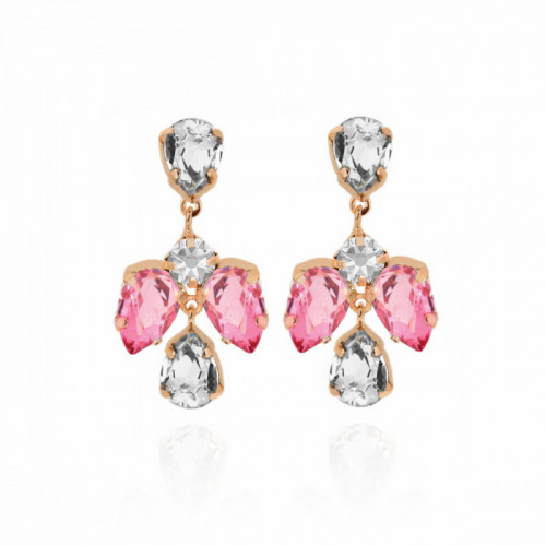 Rose Gold Louis Earrings Rose