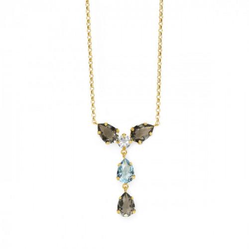 Gold Louis Pendant Diamond