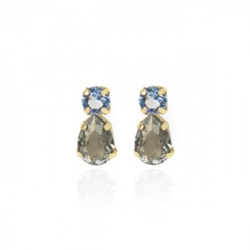 Gold Transparent Earrings Diamond