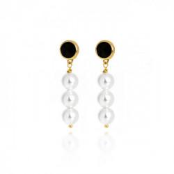 Gold Manacor Earrings Jet