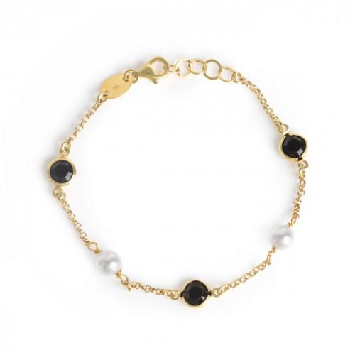 Gold Manacor Bracelet Jet