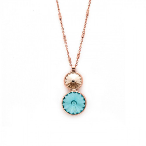 Pink Gold Necklace Basic double