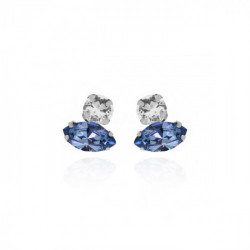 Silver Keila Earrings Denim Blue