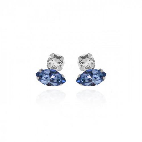 Silver Keila Earrings Denim Blue