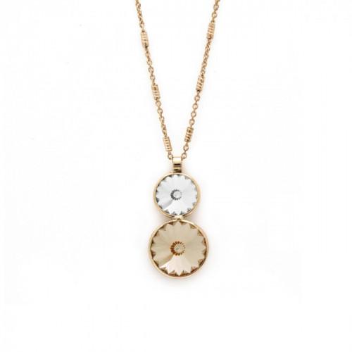 Gold Necklace Basic double