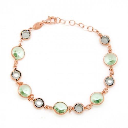 Chysolite Rose Gold Bracelet
