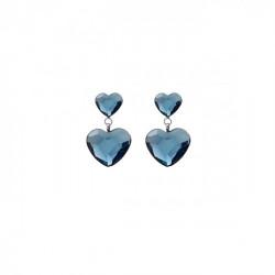 Silver Earrings Cuore double